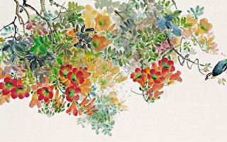 凌霄(彩墨)60×125cm(图片来源:画家提供)
