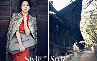 2014年11月李英爱在首尔云砚宫拍摄的时尚大片。(Gucci提供)