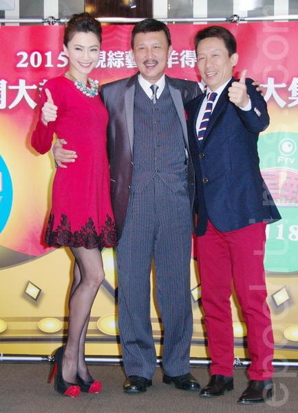 民视在台北举办餐会。图为侯怡君(左起)、余天、郭子乾。(黄宗茂/大纪元)