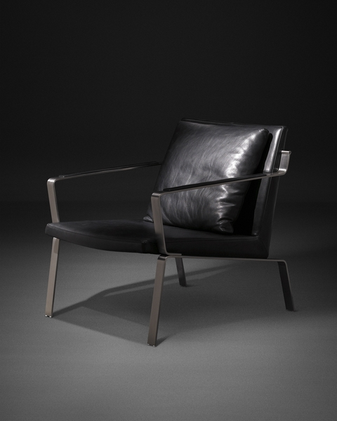 简练时尚的单人座皮椅。(LEGEND LIFE系列)(图:舒富乐提供)