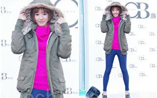 孟耿如于2014年12月6日在台北出席某严选网购街头时尚秀。(黄宗茂/大纪元合成)