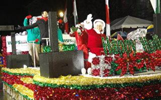 美西切斯特圣诞游行 法轮功腰鼓受瞩目