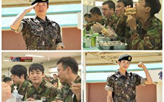 张赫(左上)与朴炯植(右下)一起参与《真正的男人》录影。(中天提供)