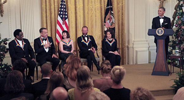 美国总统奥巴马致辞。(Dennis Brack/Black Star-Pool/Getty Images)