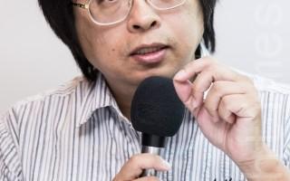 曾建元表示:「台灣在道義上一定要義不容 辭聲援雨傘運動。」(陳柏州/大紀元)