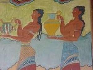 王宫内的墙上有许多鲜艳的壁画,引人想像当时繁盛、发达的生活(图片提供:Dilos Holiday World)