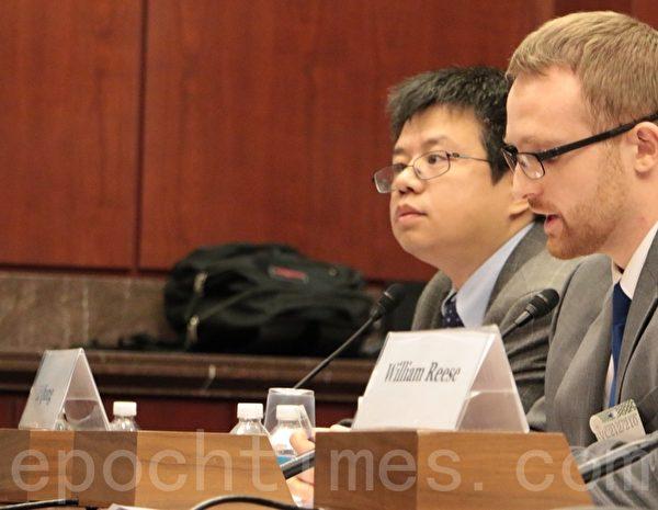中国劳工观察(China Labor Watch)执行主任李强作为证人出席听证会,他表示对工厂的审计对保护中国工人是没用的。(苏子清/大纪元)