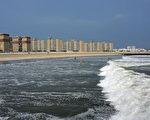 纽约皇后区的洛克威(Rockaway)海滩。(Spencer Platt/Getty Images)