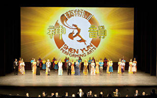 图为2014年2月1日中国新年初二,美国神韵国际艺术团在东京的演出。(余钢/大纪元)