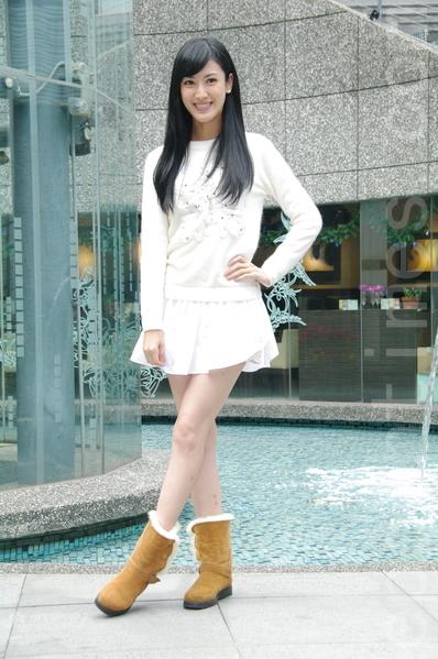台视《雨后骄阳》于2014年12月18日在台北办理媒体见面会。图为陈怡嘉。(黄宗茂/大纪元)