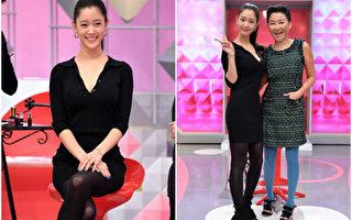 韩星Clara(左)首次来到蓝心湄的节目中录影,并大方素颜示人。(联意制作提供)