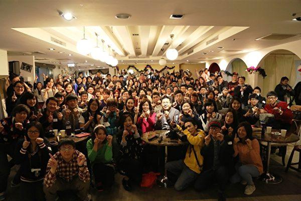 張鈞甯出道十年聖誕派對現場。(原子印象提供)