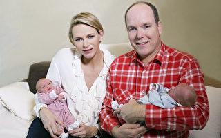 12月10日,摩纳哥王室诞生了一对双胞胎。(FREDERIC NEBINGER/AFP)