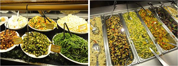 费城远郊Malvern镇的Wegman's 超级市场为顾客准备的热配菜。(司瑞/大纪元)