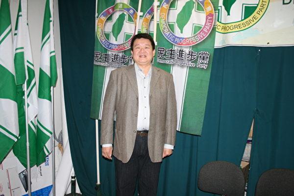 何博文是臺灣2014年九合一大選後第一位出國參訪的公職人員。(袁玫/大紀元)