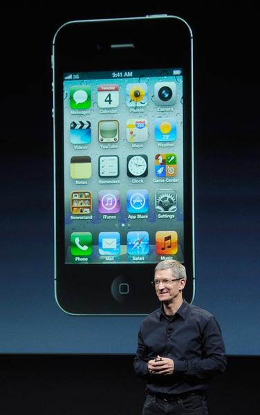 iPhone 4S。(Kevork Djansezian/Getty Images)