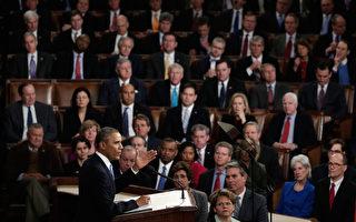 進入2015年後,美國共和黨全面控制參議院。該黨領袖日前表示,願意在未來兩年與美國總統奧巴馬就美國移民改革、健保改革和增加就業等重要議題上合作,但他們同時指出,奧巴馬也需要在這些問題上做出讓步。圖:2014年1月28日,奧巴馬在美國國會發表國情咨文。(Win McNamee/Getty Images)