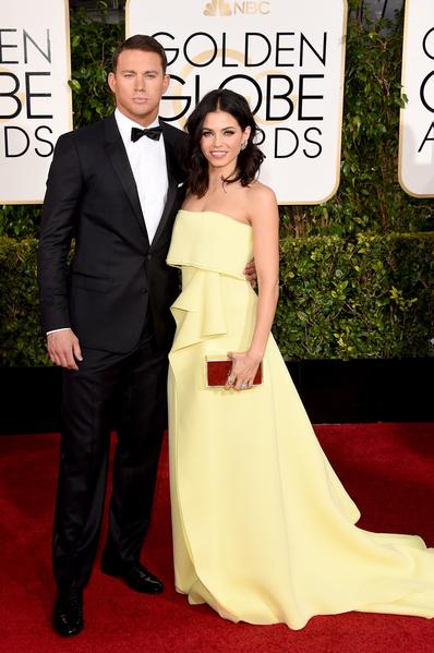 查寧‧塔圖姆與夫人。(Jason Merritt/Getty Images)