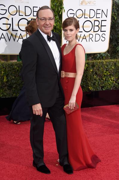 凱文‧史派西與女星凱特‧瑪拉。(Jason Merritt/Getty Images)