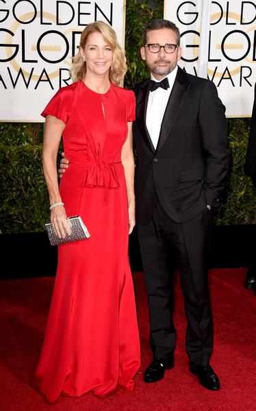 史蒂夫‧卡瑞爾與夫人。(Frazer Harrison/Getty Images)