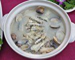 高市海洋局與全家合作,推出「龍膽石斑魚涮涮鍋」,獲2015年菜評比湯鍋羹類第一名。(李晴玳/大紀元)