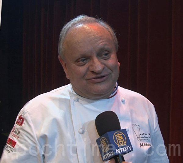著名的厨师乔尔•侯布匈拥有28颗米奇林星。(李归燕/大纪元)