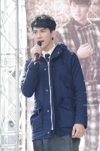 男團GENTLEMAN於2015年1月18日在台北舉行《不完美紳士》簽唱會。圖為團員MASHA。(黃宗茂/大紀元)