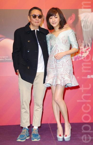 2015年柏林影展行前记者会于2015年1月21日在台北举行。图左起为纽承泽、陈意涵。(黄宗茂/大纪元)