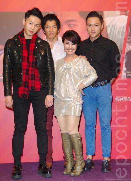 2015年柏林影展行前记者会于2015年1月21日在台北举行。图前排为黄尚禾、吕雪凤,后排为郑人硕、李鸿其。(黄宗茂/大纪元)