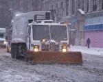 1月26日(週一)開始,從西到東的大半個美國正在經歷「歷史性」暴風雪,暴風雪中的紐約(戴兵/大紀元)