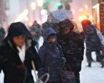 1月26日,紐約曼哈頓匆匆趕路回家的人們。 (Photo by Spencer Platt/Getty Images)