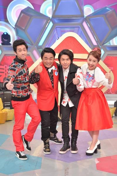 除夕特别节目《新春飞羊超级Young》由(左起)陈汉典、吴宗宪、欧弟、LULU主持。(三立提供)