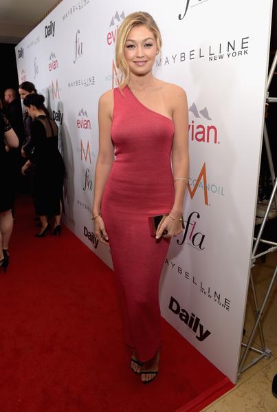 2015年1月22日,西好萊塢,出席時尚洛杉磯獎的Gigi Hadid。(Jason Kempin/Getty Images for the DAILY FRONT ROW)