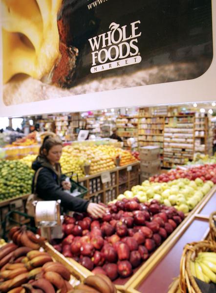 洛杉矶市中心有机食品超市将于11月4日开张。图为旧金山有机食品连锁超市Whole Foods Market。(Justin Sullivan/Getty Images)
