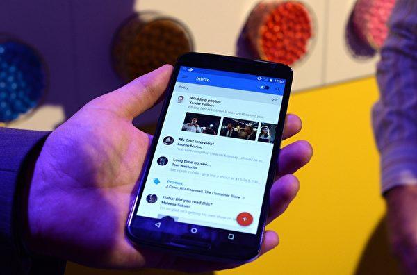 有很多公司使用Gmail作为企业电子邮件的解决方案。(JEWEL SAMAD/AFP/Getty Images)