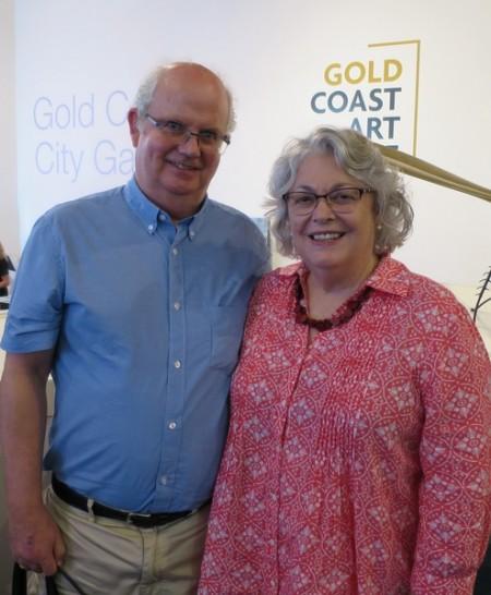 昆士兰格里菲斯大学商业系资深讲师Dale Miller教授和Bill Merrilees教授于2月1日下午,一同观看了今年黄金海岸的最后一场神韵演出。(丹尼尔/大纪元)