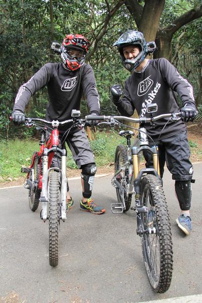 陈汉典要挑战单车极限运动。(纬来综合台提供)