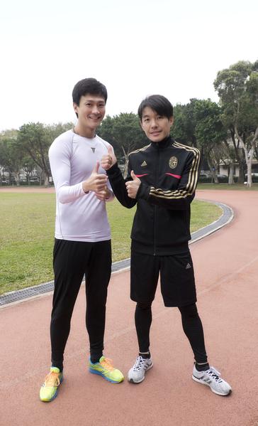 林俊逸(左)與陳如山一起參加路跑。(喜歡音樂提供)