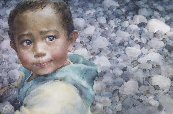 林毓修 《拾》 110 × 78 cm 2013(图:中华亚太水彩艺术协会提供)