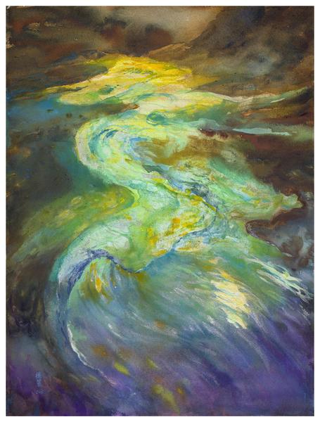 许德丽 《水之龙》 75x56公分 2013(图:中华亚太水彩艺术协会提供)