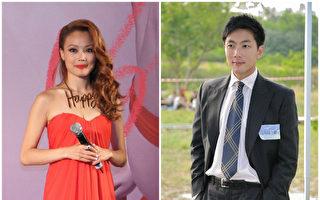女星容祖儿(左)恭喜男友刘浩龙(右)签约新公司。(蔡雯文、宋祥龙/大纪元合成)