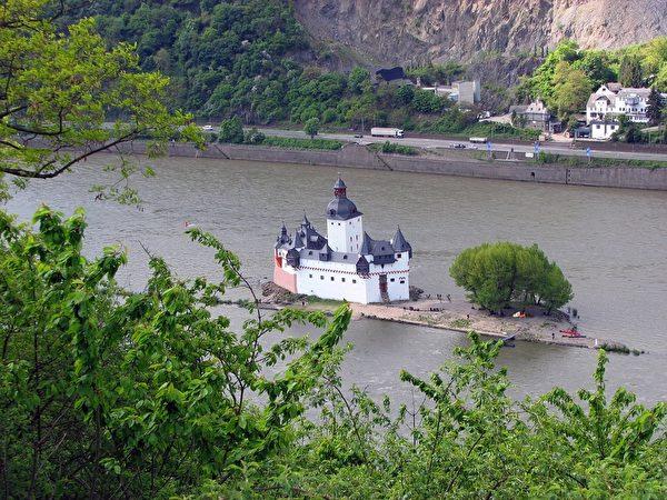 莱茵河上法尔茨伯爵岛(pixabay)
