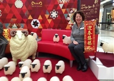"""喜气""""羊羊"""" 购物民众感受中国新年"""