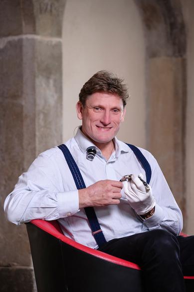 斯蒂芬‧富斯(Stephen Forsey)先生,是高珀富斯鐘錶行的創始人之一。(Greubel Forsey提供)