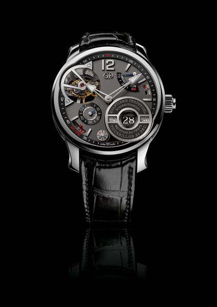 高珀富斯2014年出品的十周年年庆特别款--方程式万年历腕表。(Greubel Forsey提供)