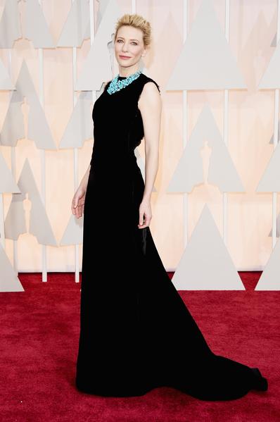 上屆奧斯卡影后凱特‧布蘭切特「女王」風範依舊。(Jason Merritt/Getty Images)