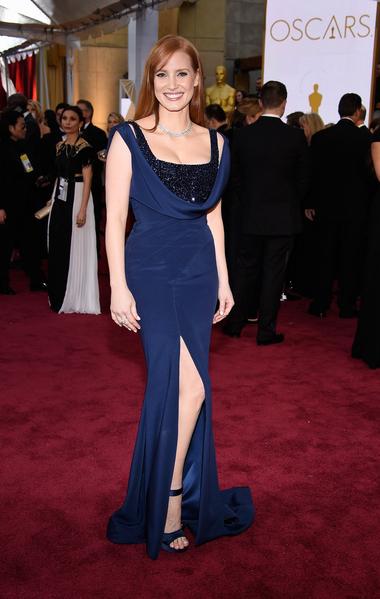 傑西卡‧查斯坦過去一年裡出演了《星際穿越》等好幾部影片。(Jason Merritt/Getty Images)