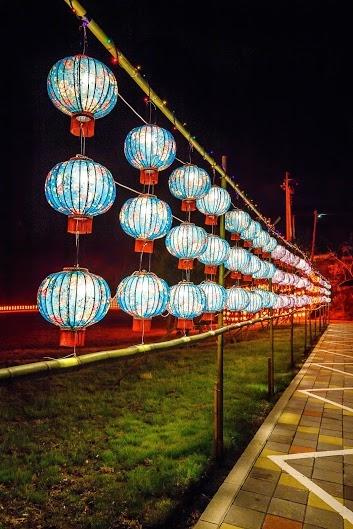 宝山乡独特的客家花布灯笼。(林宝云/大纪元)
