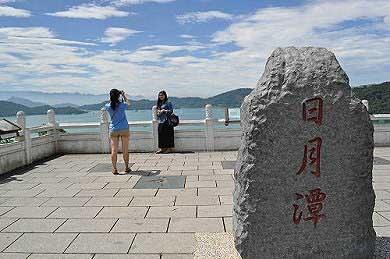 文武廟山門前的觀湖平台。(圖片提供:tony)