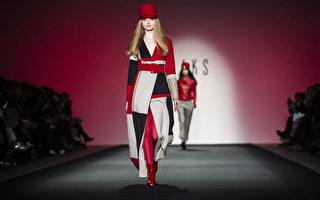 2015秋冬倫敦時裝週期間展示的Daks的時裝。(JACK TAYLOR/AFP)